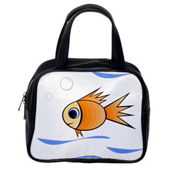 Cute Fish Classic Handbags (one Side) by Valentinaart