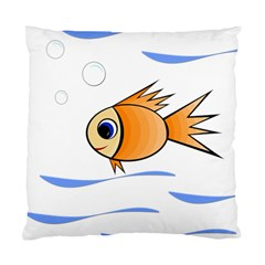 Cute Fish Standard Cushion Case (one Side) by Valentinaart