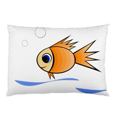 Cute Fish Pillow Case by Valentinaart