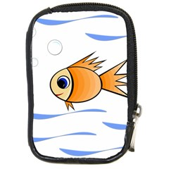Cute Fish Compact Camera Cases by Valentinaart