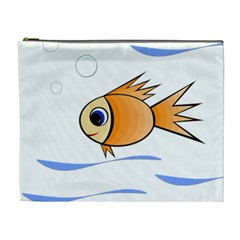 Cute Fish Cosmetic Bag (xl) by Valentinaart
