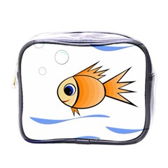 Cute Fish Mini Toiletries Bags by Valentinaart