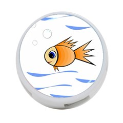 Cute Fish 4-port Usb Hub (one Side) by Valentinaart