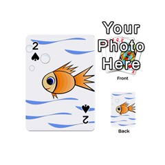 Cute Fish Playing Cards 54 (mini)  by Valentinaart