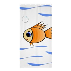 Cute Fish Shower Curtain 36  X 72  (stall)  by Valentinaart