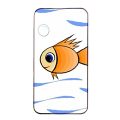 Cute Fish Apple Iphone 4/4s Seamless Case (black) by Valentinaart