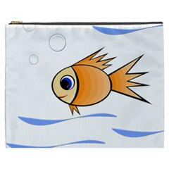 Cute Fish Cosmetic Bag (xxxl)  by Valentinaart