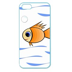 Cute Fish Apple Seamless Iphone 5 Case (color) by Valentinaart