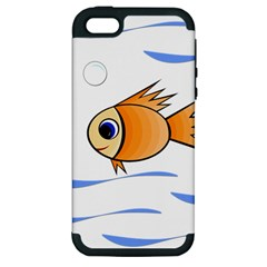 Cute Fish Apple Iphone 5 Hardshell Case (pc+silicone) by Valentinaart