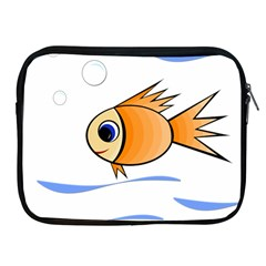 Cute Fish Apple Ipad 2/3/4 Zipper Cases by Valentinaart