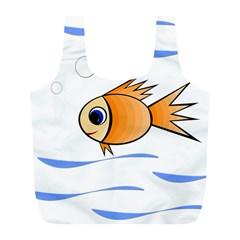 Cute Fish Full Print Recycle Bags (l)  by Valentinaart