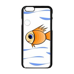 Cute Fish Apple Iphone 6/6s Black Enamel Case by Valentinaart