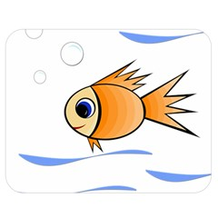 Cute Fish Double Sided Flano Blanket (medium)