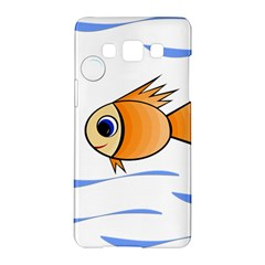 Cute Fish Samsung Galaxy A5 Hardshell Case  by Valentinaart