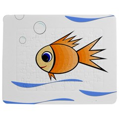 Cute Fish Jigsaw Puzzle Photo Stand (rectangular) by Valentinaart