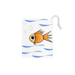 Cute Fish Drawstring Pouches (xs)  by Valentinaart