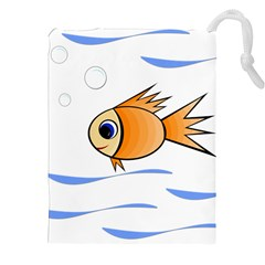 Cute Fish Drawstring Pouches (xxl) by Valentinaart