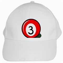 Billiard Ball Number 3 White Cap by Valentinaart