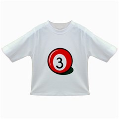 Billiard Ball Number 3 Infant/toddler T-shirts by Valentinaart