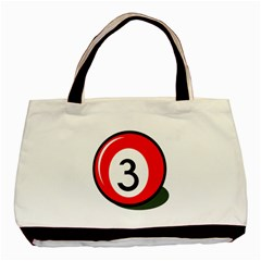 Billiard Ball Number 3 Basic Tote Bag by Valentinaart