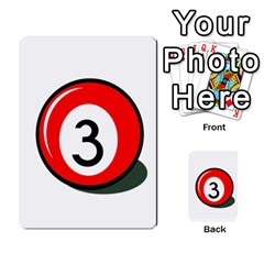 Billiard Ball Number 3 Multi Purpose Cards (rectangle)  by Valentinaart