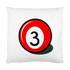 Billiard Ball Number 3 Standard Cushion Case (two Sides) by Valentinaart
