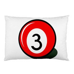 Billiard Ball Number 3 Pillow Case by Valentinaart