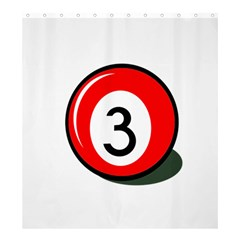 Billiard Ball Number 3 Shower Curtain 66  X 72  (large)  by Valentinaart