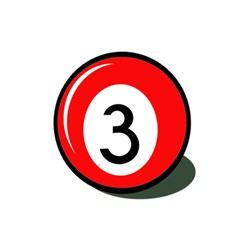 Billiard Ball Number 3 Magic Photo Cubes by Valentinaart