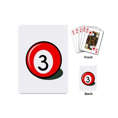 Billiard Ball Number 3 Playing Cards (mini)  by Valentinaart