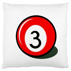 Billiard Ball Number 3 Large Cushion Case (two Sides) by Valentinaart