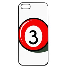 Billiard Ball Number 3 Apple Iphone 5 Seamless Case (black) by Valentinaart