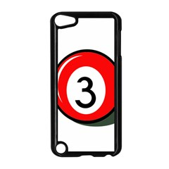 Billiard Ball Number 3 Apple Ipod Touch 5 Case (black) by Valentinaart