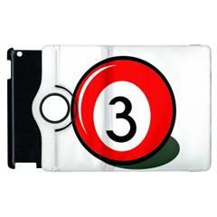 Billiard Ball Number 3 Apple Ipad 3/4 Flip 360 Case by Valentinaart