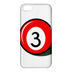 Billiard Ball Number 3 Apple Iphone 5c Hardshell Case by Valentinaart