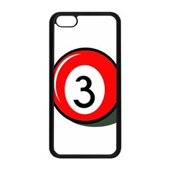 Billiard Ball Number 3 Apple Iphone 5c Seamless Case (black)