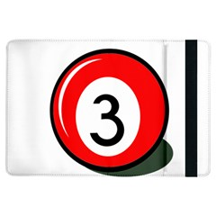 Billiard Ball Number 3 Ipad Air Flip by Valentinaart
