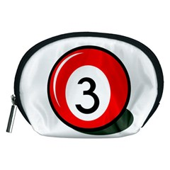 Billiard Ball Number 3 Accessory Pouches (medium)  by Valentinaart