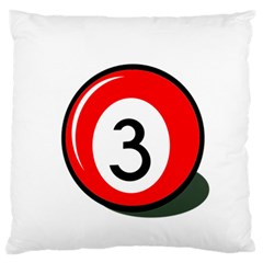 Billiard Ball Number 3 Standard Flano Cushion Case (two Sides) by Valentinaart