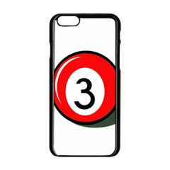 Billiard Ball Number 3 Apple Iphone 6/6s Black Enamel Case by Valentinaart