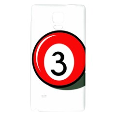 Billiard Ball Number 3 Galaxy Note 4 Back Case by Valentinaart