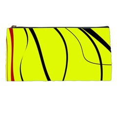 Yellow Decorative Design Pencil Cases by Valentinaart