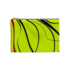 Yellow Decorative Design Cosmetic Bag (medium)  by Valentinaart