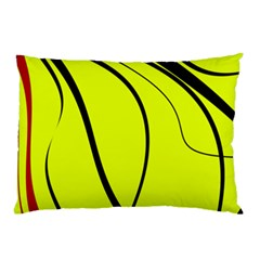 Yellow Decorative Design Pillow Case (two Sides) by Valentinaart