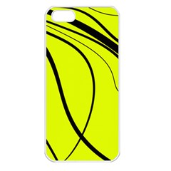 Yellow Decorative Design Apple Iphone 5 Seamless Case (white) by Valentinaart