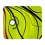 Yellow decorative design Samsung Galaxy S  III Flip 360 Case Front