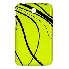 Yellow Decorative Design Samsung Galaxy Tab 3 (7 ) P3200 Hardshell Case  by Valentinaart