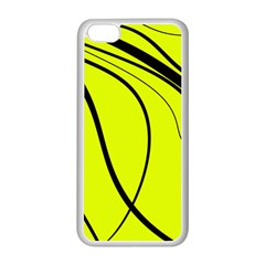 Yellow Decorative Design Apple Iphone 5c Seamless Case (white) by Valentinaart