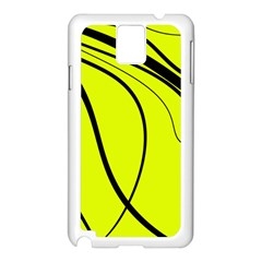 Yellow Decorative Design Samsung Galaxy Note 3 N9005 Case (white) by Valentinaart