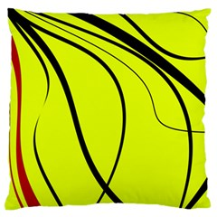 Yellow Decorative Design Large Flano Cushion Case (two Sides) by Valentinaart